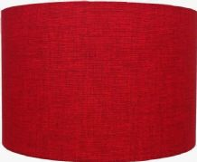 Loneta Red Linen Style Cylinder / Drum Lampshade